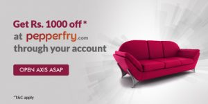 axis asap big pepperfry offer
