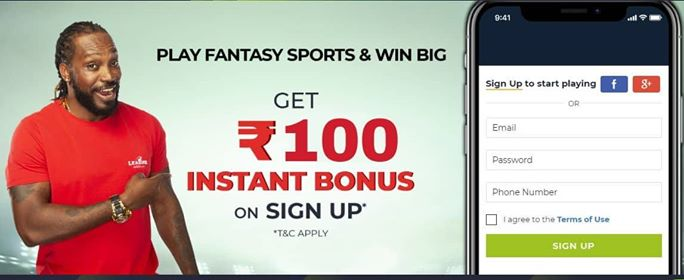 How To Get Rs.100 On LeagueAdda Fantasy App