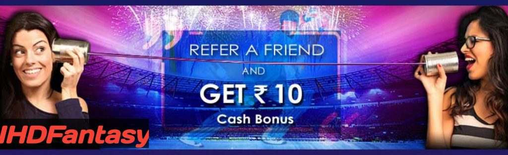 Share Your 11 Wickets Refer Code & Earn Rs.10