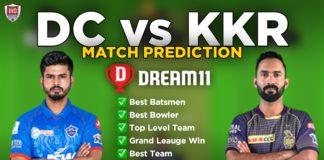 DC vs KKR Dream11 team prediction