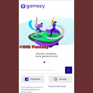 Steps To Register On Gamezy Fantasy App -