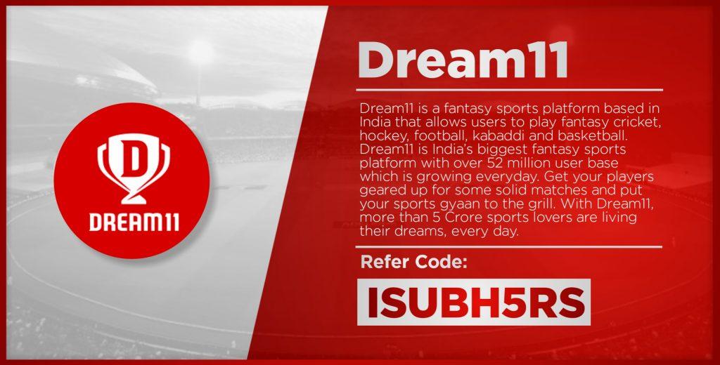 Dream11- No.1 Fantasy Cricket App List