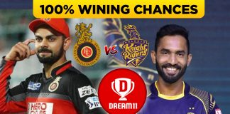 IPL 2019 ( 17th Match) KKR VS RCB Dream 11 team & Playing XI