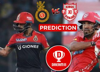 IPL 2019. Match 28 - KXIP VS RCB Best Dream11 team Today Prediction
