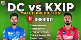 DC vs KXIP Dream11 team