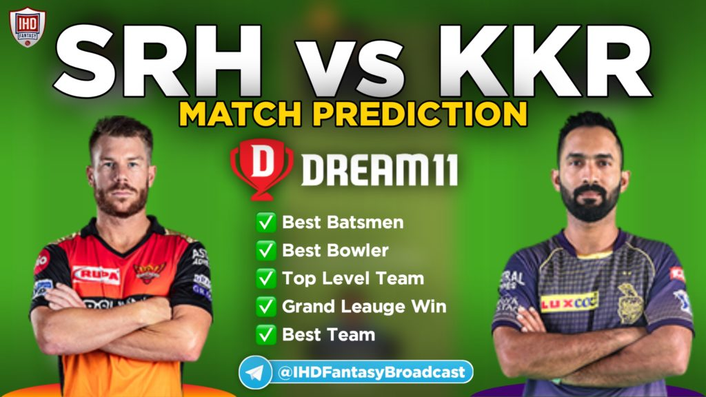 SRH vs KKR Dream11 team prediction