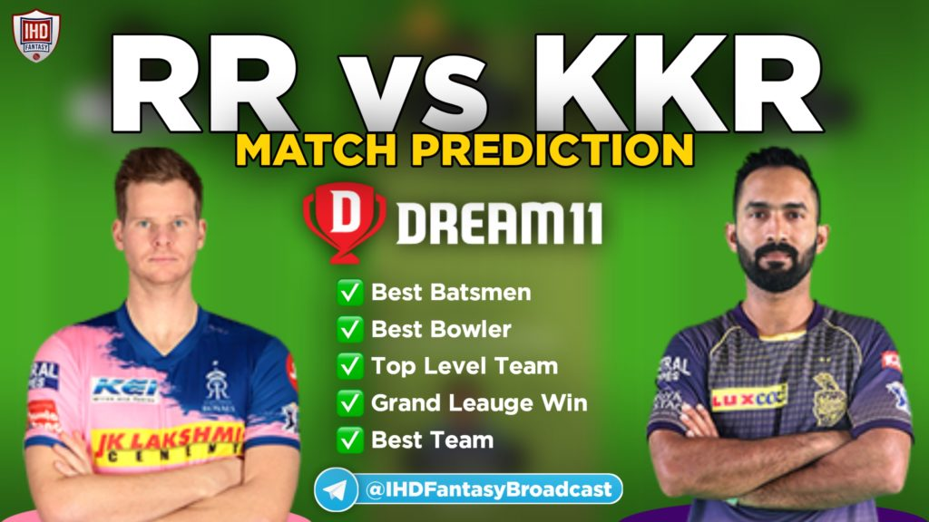 RR vs KKR Dream11 team prediction