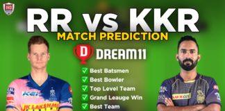 RR vs KKR Dream11 team prediction