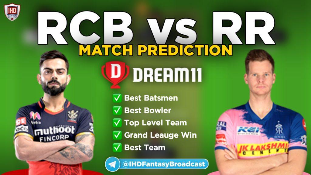 RCB vs RR Dream11 team prediction