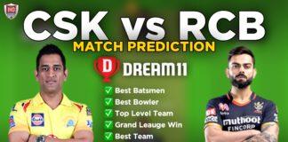 CSK vs RCB Dream11 team prediction