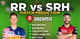 RR vs SRH dream11 team prediction