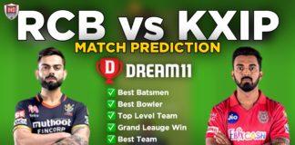 RCB vs KXIP Dream11 team prediction