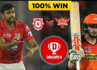 SRH vs KXIP Dream11 Team Predictions Today