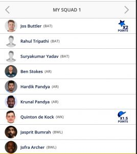 Rajasthan vs Mumbai Playerzpot Teams