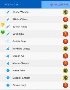 Banglore vs Chennai BalleBaazi Classical Teams
