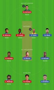 KKR vs MI Best Best Dream11 Team Today 1