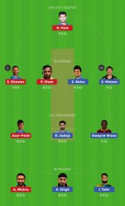 CSK vs DC Dream11 Team Today