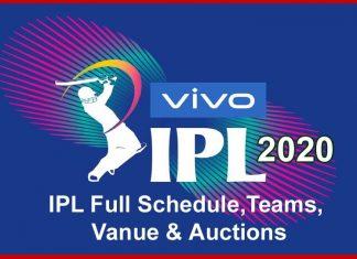 Vivo ipl 2020 team, match details