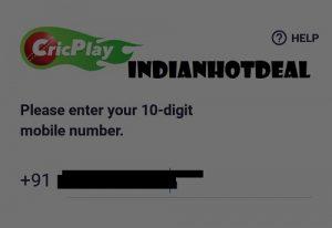 cricplay mobile verification
