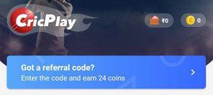 cricplay referral codes