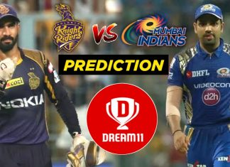IPL 2019 - 56th Match, MI vs KKR Dream11 Team Prediction Today Match