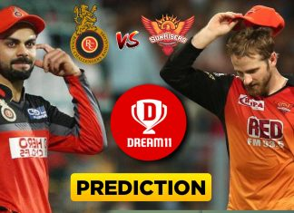 IPL 2019 - 54th Match, RCB vs SRH Dream11 Team Prediction Today Match