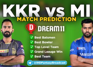 MI vs KKR Dream11 team prediction