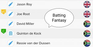 Eng Vs SA Teams For BalleBaazi Batting Fantasy  ENG vs SA BalleBaazi Team