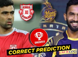 IPL 2019 - 52nd Match, KXIP vs KKR Dream11 Team Prediction Today Match