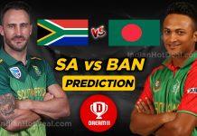 ICC World Cup 2019, RSA Vs BAN Dream 11