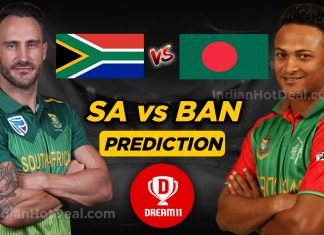 ICC World Cup 2019, RSA Vs BAN Dream 11