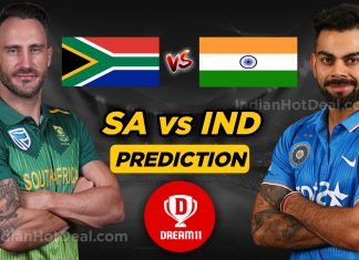 IND vs SA 2nd ODI Dream 11 Team Prediction Today (100% Winning Team)