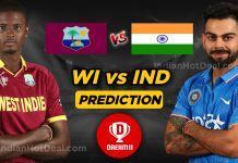 India vs West Indies 1st ODI Dream11 Match Prediction