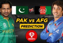 AFG vs PAK Dream11 Team Prediction Today- ICC WC 2019 36th Match