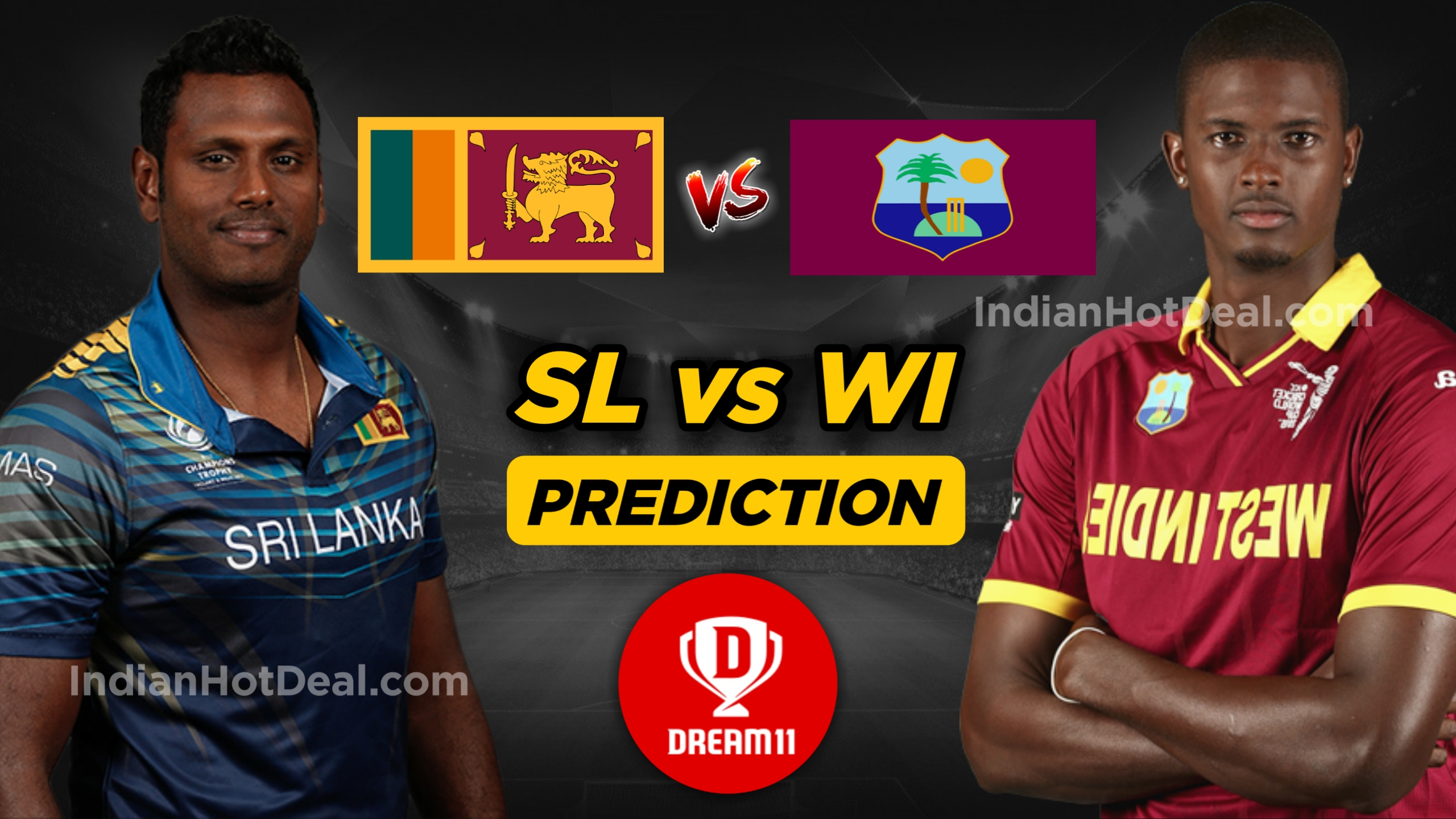 WI vs SL 2nd ODI Dream11 Team Prediction for Today's Match