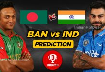 IND vs BAN 2nd Test Dream11 Team Prediction Today