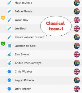 ENG vs SA BalleBaazi Teams - 1 For Classical Leagues