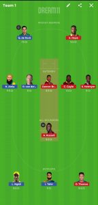 SA vs WI 5th Warm-up game - ICC Cricket World Cup 2019 Dream11 Team