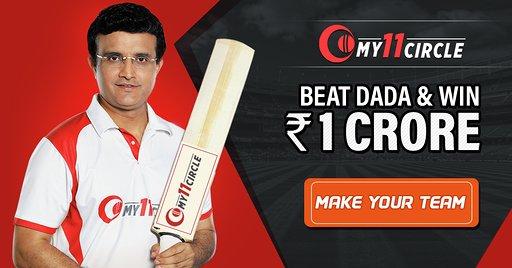 My11Cicle Fantasy Cricket Download, Saurav Ganguly Promoting My11Circle