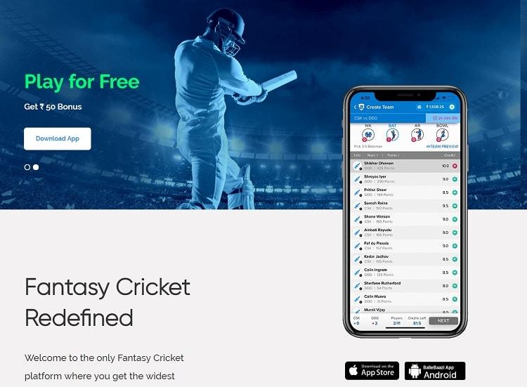 ballebaazi fantasy app apk Download