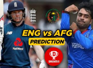 AFG vs ENG 8th Warm-up game - ICC Cricket World Cup 2019 Dream11 Team