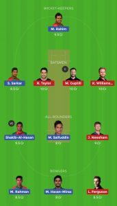 BAN vs NZ Dream11 Team for today's match
