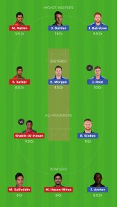ENG vs BAN Dream11 Teams for today's match