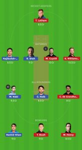 AFG vs NZ Dream11 Team Today for small league