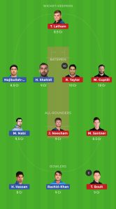 AFG vs NZ Dream11 Teams for today's match