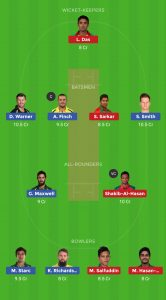 AUS VS BAN DREAM 11 TEAM