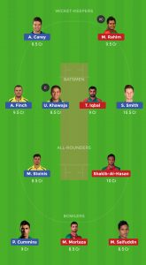 AUS VS BAN DREAM 11 TEAM For Grand League