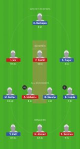 Ind vs AFG Dream11Team for small league
