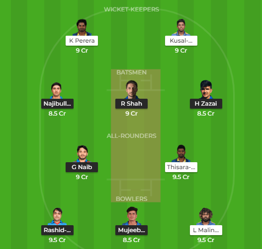 SL VS AFG DREAM 11