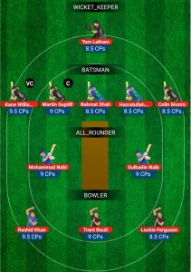 NZ vs AFG My11Circle Fantasy Team Preview